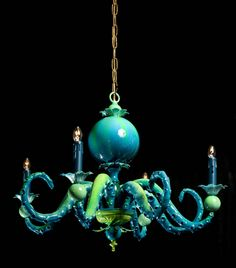 Gorgeous octopus chandaliers