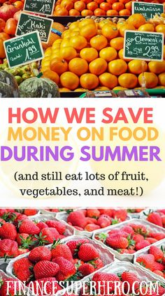 Summer is here! Check out these tips and tricks we use to save money on food during the summer months and keep more money in your budget now! Learn how to save money on produce, store your produce safely to maximize its freshness, find great deals on meat for the grill, and eat lots of fruits and vegetables without busting your budget.