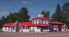 Big Winnie General Store, located Bena, Minnesota, USA.  Listed on the National Register of Historic Places.  Photo credit: McGhiever via Wikimedia Commons  commons.wikimedia.org/wiki/File:Big_Winnie_General_Store.jpg