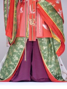 Gosechi dancer's robes. Note purple trousers- she would have been a young, unmarried maiden.