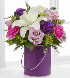 Color you Day with Beauty            Purple Paint Can  PRETTY
