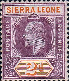 Sierra Leone 1907 King Edward VII SG 100 Fine Used Scott 91 Other African Stamps HERE