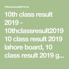 10thclassresult2019 (miannouman1230036) on Pinterest