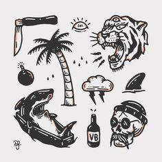 tattoo designs ideas männer männer ideen old school quotes sketches Kritzelei Tattoo, Surf Tattoo, Doodle Tattoo, Throat Tattoo, Tattoo Quotes, Tattoo Old School, Old School Tattoo Designs, Black Tattoos, Small Tattoos