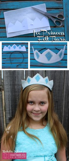 Frozen Inspired Ice Princess Felt Tiara. Perfect for a Frozen themed birthday party.