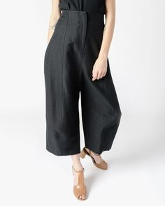 Morris Pant in Black Cotton Twill