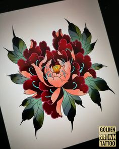 New peony / Available / DISPO pour tattoo ☺️ Japanese Tattoo Women, Japanese Tattoo Symbols, Japanese Tattoo Art, Japanese Tattoo Designs, Japanese Sleeve Tattoos, Flower Tattoo Designs, Japanese Art, Japanese Flower Tattoos, Japan Tattoo Design