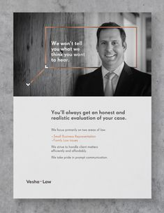 Everybody needs alawyer, it's only amatter of time. So they say. But this time the lawyers needed us. Their name is VeshaLaw and they are from the USA. With elegance but a raw one. With character but a classic one. These were our assumptions as we began working on a corporate identity for the American law office Vesha Law. First a logo was designed with a symbol containing the VL initials. Then we placed it on a grey paper and we finished it off with copper and silver hot foil, which…