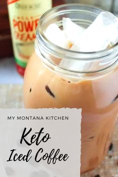 A creamy Protein Iced Coffee full of health-boosting benefits and 20 grams of protein! A creamy Protein Iced Coffee full of health-boosting benefits and 20 grams of protein! Low Carb Mixed Drinks, Low Carb Drinks, Low Carb Smoothies, Sugar Free Drinks, Sugar Free Recipes, Low Carb Recipes, Healthy Recipes, Keto Diet Drinks, Keto Drink