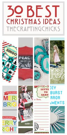 30 BEST CHRISTMAS IDEAS!  Come and see some of our very favorites!!!  thecraftingchicks.com #christmas #christmasideas #christmascards