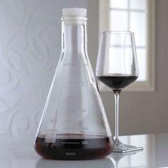 chemistry flask wine decanter