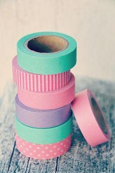 Pastel washi tape <3