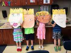 These giant self-portrait heads have been so hilarious to make. The best part are those little kinders holding up their painted heads in front of themselves. What a photo op! Art Rubric, Kindergarten Art Projects, 3rd Grade Art, Queen Art, Art Curriculum, Princess Art, Drawing Projects, Art Lessons Elementary, Art Programs