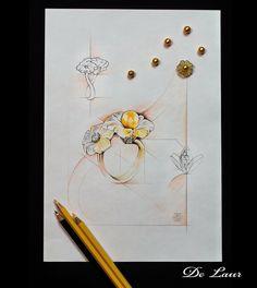 #sketch #Ring #Diamonds #Pearl #Quartz #LuxuryJewelry #UniqueJewels #HighJewelry #DeLaur  Model: K 384