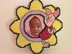 SALE  Picture Frame with magnet back by MissLadyBugCrochet on Etsy, $7.00