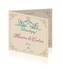 Save the date uitnodiging of love trouwkaarten. Een mooie retro kaart voor de bruiloft.