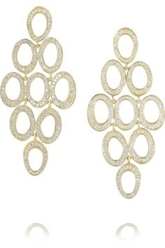 Ippolita|Stardust 18-karat gold diamond earrings|NET-A-PORTER.COM