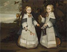 Jan Jansz. de Stomme (1615-1658)   Twee Groningse meisjes met schorten druiven plukken, 1654