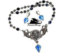Necklace women choker earrings Medusa buds