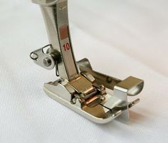 Edgestitch foot demystified. I learned a lot from this post about how to use this type of presser foot!