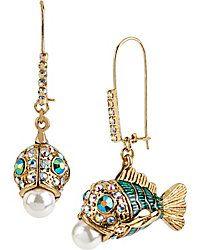 Drop Earrings - Shop Women's Fashion Earrings from Betsey Johnson #IDoBetseyBlue  #Sponsored