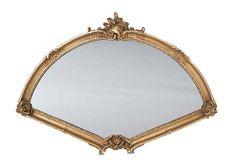 Large Fan Mirror, Gold