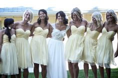 bridesmaids dress are pretty and simple, everything blends nicely.