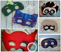 PJ Mask inspired Felt Masks – Available Jan 1, 2016