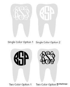 These decals are perfect for the person graduating from dental school, who is a dentist, or has a job that involves dental hygiene!