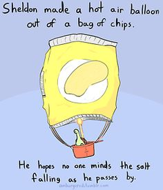 Sheldon's hot air balloon