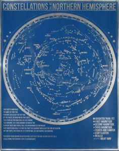 Constellations of the Northern Hemisphere (Blue) Serigraph by Kyle & Courtney Harmon at AllPosters.com