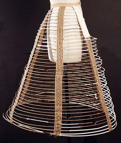 Cage crinoline Date: mid-19th century Culture: American or European Medium: wire
