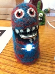 Felted Circuit monster