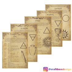 These pages will provide beautiful illustrations and information about the elements. This pack contain: -Everything you need to know about the Elements (meanings, symbols etc.) -The Wheel of the Elements-Table of the Elements -Invocations of the Elements These are designed to be printed on a standard A4 format page (8.27x11.69 in or 21x29.7 cm). There are a total of 11 designs, downloadable in .pdf format. These are original art works and are not intended for resale. Please do not resale…