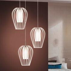 Filigrane LED Pendelleuchte Vencino aus Stahl in...