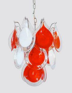 Gino VISTOSI Chandelier for VENINI MURANO Glass Drop by muromant