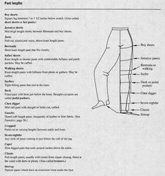 PANT LENGTHS Hot Pants, Boy Shorts, Bermuda Shorts, Thighs, Boys, Patterns, Atelier, Baby Boys, Senior Boys