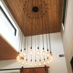 Custom spider chandelier featuring 19 bulbs that I made for a client in Texas. - Home Decor - Home Style And Rustic Pendant Lighting, Wall Sconce Lighting, Home Lighting, Modern Lighting, Entry Lighting, Custom Lighting, Lighting Ideas, Lighting Design, Home Design