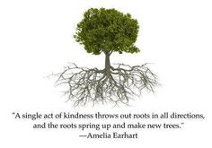 """Amelia Earhart quote: """"A single act of kindness..."""""""