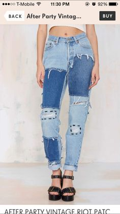 Patchy Jeans. I believe I can make these $100 jeans.