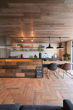 「new studio open.」家族・only-you-homeのインテリア実例。 Diy Interior, Cafe Interior, Kitchen Interior, Interior Decorating, Interior Design, Japanese Kitchen, Kitchen Tiles, House Rooms, Interior Inspiration