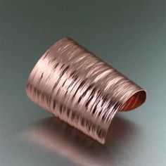 3 Inch Copper Bark Cuff Bracelet #7thAnniversary #CopperBracelets https://www.copperanniversarygifts.com/product/3-inch-copper-bark-cuff-bracelet/