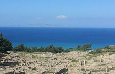 Ancient Kamiros In Rhodes Is One Of The Original Three Ancient Cities (And The Smallest) To Be Developed On The Island. Lindos And Ialyssos Were The Other Two. City O, Rhodes, Greece, Island, Mountains, Country, Travel, Beautiful, Greece Country