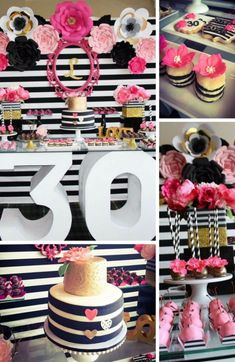 Kate Spade Birthday Inspirations - Birthday Party Ideas for Kids and Adults 30th Birthday Themes, Graduation Party Themes, 41st Birthday, Barbie Birthday, Barbie Party, Birthday Party Decorations, Girl Birthday, Birthday Bash, Cake Birthday
