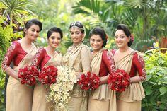 #Eastern Weddings Australia #Kandian Brides sri lanka Bridesmaid Saree, Bridesmaid Flowers, Bridesmaids, Bridesmaid Ideas, Sri Lankan Bride, Srilankan Wedding, Bridal Dresses, Flower Girl Dresses, Asian Bridal