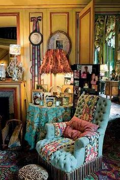 hippie boho style and decor