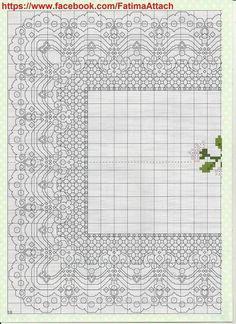 Kanaviçe Masa Örtüsü ve Runner Şablonları (100)