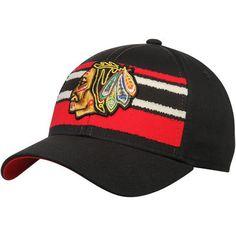 Chicago Blackhawks CCM Team Logo Adjustable Hat - Black