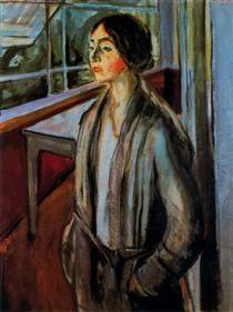 Edvard Munch (1863-1944) was een Noorse kunstschilder. Confrontaties met ziekte en dood lieten in hem de hartstocht voor de kunst ontwaken. De angst voor het verlies van zijn naasten bleef de jonge kunstenaar jaren achtervolgen. Deze geestelijke onrust had hij gemeen met Van Gogh, hoewel hij minder van de natuur uitgaat dan van het psychische.