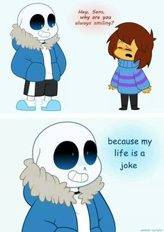 "No bc that's just the way he is he can't physically move his teeth bc he's a skeleton I think but this theory also works bc he's extremely puny and oh great I just ruined the joke (great we were talking about undertale and I said ""ruined"" pun sort of intended XD)"